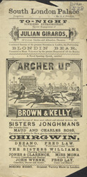 Poster for the South London Palace 2528